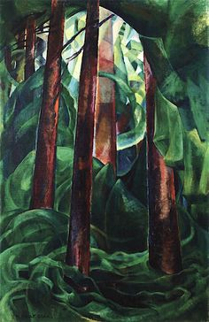 Wood Interior By Emily Carr . Truly Art Offers Giclee Unframed Prints on Paper, Canvas Art, and Framed Art in all our Collections. Canadian Painters, Canadian Artists, Nature Paintings, Landscape Paintings, Emily Carr Paintings, Group Of Seven Paintings, Women Artist, Impressionist Paintings, Female Art