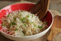 There are several things that I love about this recipe:   (1) it uses a new ingredient (previously my experience with daikon was watch...
