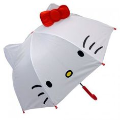 "Hello Kitty Toddler Kid Umbrella with Cat Ears DIA. 27""1/2 70cm Sanrio"