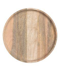 Rond houten dienblad | Beige | Home | H&M NL