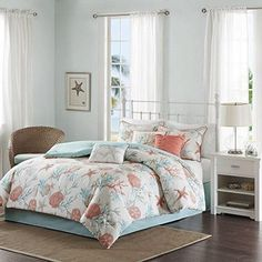 Sale Price : $158.99  Order it Here=> https://diamondhomeusa.com/products/white-aqua-blue-coral-pink-beach-comforter-queen-set-starfish-bedding-sea-shells-ocean-themed-coastal-hawaii-tropical-under-water-pattern-nautical-cottage-cotton?utm_campaign=outfy_sm_1510808914_482&utm_medium=socialmedia_post&utm_source=pinterest   White Aqua Blue Coral Pink Beach Comforter Queen Set Starfish Bedding Sea Shells Ocean Themed Coastal Hawaii Tropical Under Water Pattern Nautical   Shop Diamond Home…