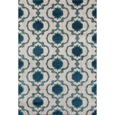 Shop for Modern Moraccan Trellis Cream/Blue Polypropylene Area Rug (7'10 x 10'2). Get free shipping at Overstock.com - Your Online Home Decor Outlet Store! Get 5% in rewards with Club O!