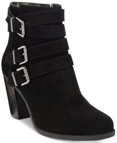 INC International Concepts Laini Block-Heel Booties, Only at Macy's $129.50 Bring boho flair to jeans and skirts with the strappy, buckled design and block heel styling of INC International Concepts' Laini booties.
