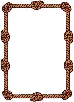 Knotted Rope Frame Embroidery Design
