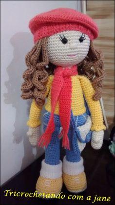 Watch This Video Incredible Crochet a Bear Ideas. Cutest Crochet a Bear Ideas. Crochet Amigurumi Free Patterns, Crochet Doll Pattern, Diy Crochet, Crochet Crafts, Crochet Toys, Crochet Baby, Crochet Projects, Diy Crafts, Knitted Dolls