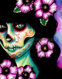 Sugar Candy Skull: A tattoo I would like to have one day