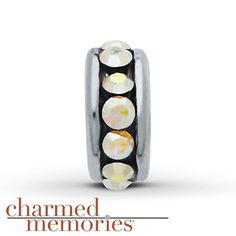 Charmed Memories® Moonstone Spacer Charm Sterling Silver
