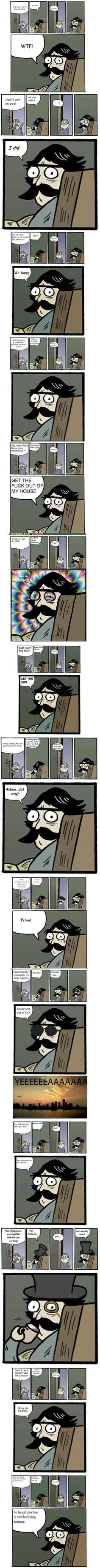Stare Dad  - funny pictures #funnypictures