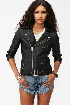 Spiked Moto Jacket - Black