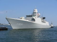 HNLMS De Ruyter (F804)  Named after the famous Dutch admiral Michiel de Ruyter (1607–1676).De Zeven Provinciën-class frigates are highly advanced air-defence & command frigates in service with Royal Netherlands Navy. HNLMS De Ruyter has an NH90 helicopter.