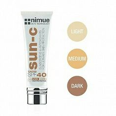 We have a NEW product in our NIMUE range.....The NEW tinted sun protection is a fusion  of SPF 40 sunscreen and the benefits of light coverage in three shades (light, medium and dark). The addition of an advanced antioxidant complex will conserve your skin's youth against harmful UV rays.