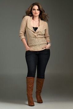 Love the look, though I've never been able to find boots that fit my calves. They are apparently huge.