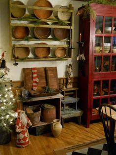 WinterBerryPrimitives - Love This Blog! Beautiful Primitive Decorating