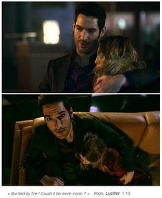Lucifer 1x10 . Lucifer, consolando a Chloe.