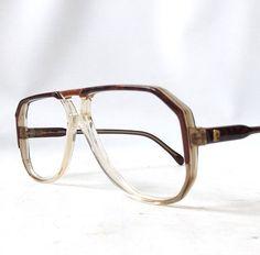 414f0a36c3 vintage 1970 s pierre cardin eyeglasses black brown plastic frames  prescription lenses eye glasses men mid century retro aviator france NOS
