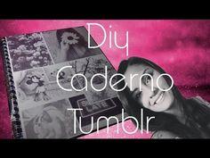 DIY  ♥ Capa para caderno com fotos do Tumblr. WeheartIt