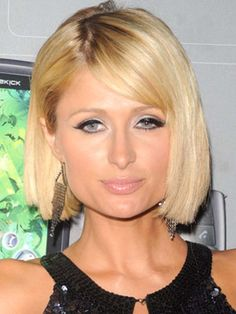 Paris Hilton Bob Haircuts with Blunts Bangs ~ http://heledis.com/paris-hilton-and-paris-hilton-hairstyles/