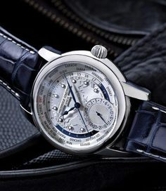 Frédérique Constant  A close-up view of the amazing Worldtimer dial!