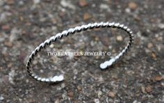 Sterling Silver Cuff Bracelet  Silver Baby by TwoFeathersJewelry