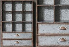 Large Metal Cabinet With Cubbies & Drawers - From Antiquefarmhouse.com - http://www.antiquefarmhouse.com/current-sale-events/home-office3/metal-wall-cabinet.html
