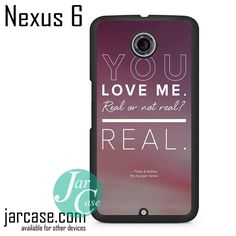 The Hunger Game Katniss & Petaa Quotes Phone case for Nexus 4/5/6