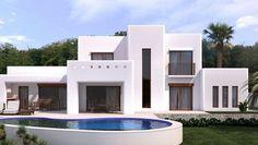 Nice Villa Ibiza style in Moraira Moraira, Rooftop Deck, Ibiza Fashion, House Design, House Styles, Nice, Ibiza Style, Raging Bull, Alicante