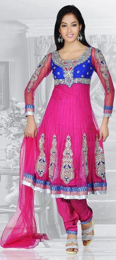 Pink & Majenta Churidar Salwar kameez