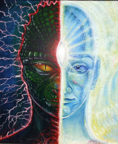 From the reptilian fear-based ego thought to a higher consciousness  awareness founded on love.