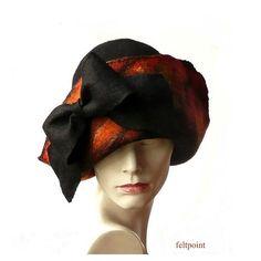 Felt HatFelted HatWoman's Hat Felt HatsCloche Hat