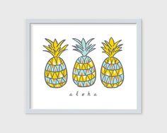 Aloha Pineapple Art Print – Nico Made