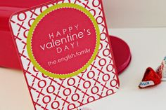 XO (Hugs ad Kisses) Personalized Valentine - perfect for those classroom parties