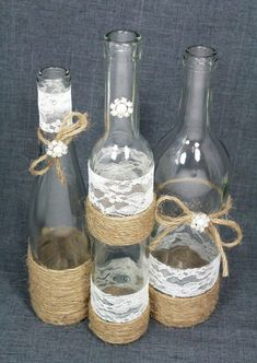 ideas diy wedding rustic centerpieces wine bottles for 2019 Wedding Reception Centerpieces, Rustic Wedding Centerpieces, Diy Centerpieces, Wedding Decorations, Deco Table Champetre, Wine Bottle Centerpieces, Wedding Bottles, Rustic Flowers, Diy Wedding