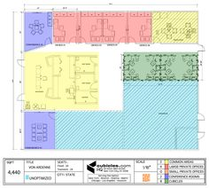Office Layout Plan for 4,400 square footage office. #officelayout#layout#officefloorplans