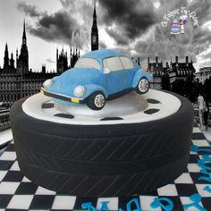 Beetle car vintage !!!! - Cake by Moustoula Eleni (Οι Τούρτες Της Ελένης)