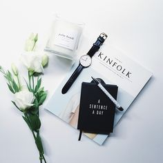What could be better than time out with our gorgeous Minimalist Journal, flowers and a scented candle?