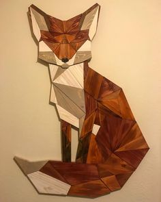DIY Geometric Pallet Wood Fox - Woodwork to try - Geometric Decor Wooden Wall Art, Wood Art, Fine Woodworking, Woodworking Projects, Woodworking Bench, Woodworking Basics, Popular Woodworking, Diy Wood Projects, Wood Crafts