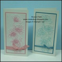 CAS, Sharon Field, Created By You, Flower Garden, Clean and Simple, 5 minute cards