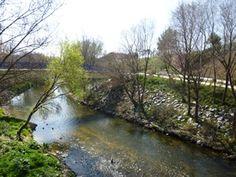 Detalle del río y puente saliendo de San Fermín