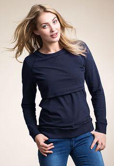 B.WARMER SWEATSHIRT Sweatshirt with double function for pregnancy and nursing.