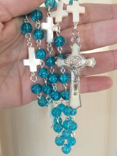 A personal favorite from my Etsy shop https://www.etsy.com/listing/285538539/turquoise-colored-rosary