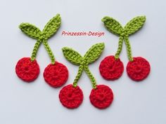 Crochet cherries - cute!