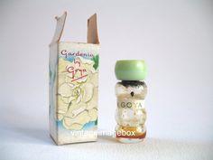 GOYA Gardenia Vintage mini perfume bottle micro by VintageImageBox,