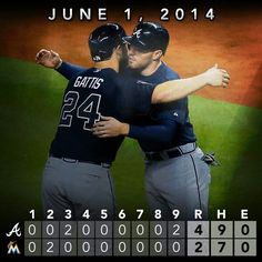 Gattis with late game heroics helps us sweep the marlins.....
