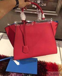 e8d4a10120 Fendi Red Blue 3Jours Mini Tote Bag