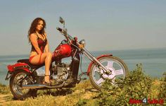 Motorcycle Girl. Regal Raptor Spyder