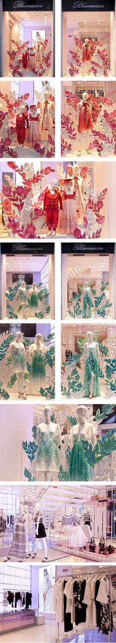 Blumarine Milan Boutique Windows - May 2015 get more inspiration http://vit-rina.blogspot.com/