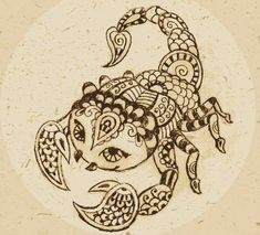 Tribal scorpion tattoos are in vogue because of their macho, bold, and intriguing designs. The same applies to the tribal scorpion tattoos. Art Scorpio, Zodiac Signs Scorpio, Scorpio Moon, Illustrator Ai, Character Symbols, Abstract Animals, Portfolio, Indian Art, Vector Art