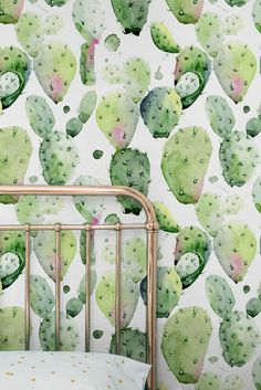 Transform any room in your home into a tropical paradise with this self-adhesive vinyl EXOTIC CACTUS pattern removable wallpaper!