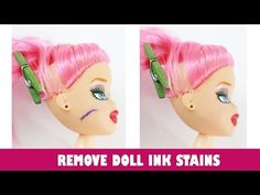 How to remove Ink, Marker, Pen, Sharpie, Dye, and other Ink stains from your doll's face and body - YouTube