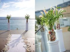 Surf and Sand wedding...flowers by The flower Stand and pic's by Jessica Elizabeth Photography via CeremonyBlog.com (7)